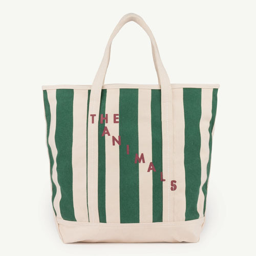 Tote Bag (green stripes)