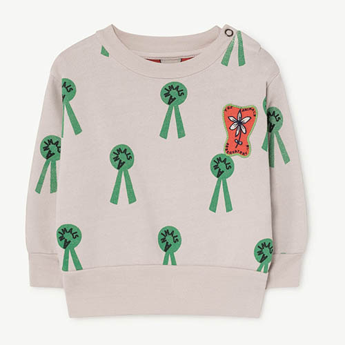 Bear Baby Sweatshirt 984_168 (mauve animal)