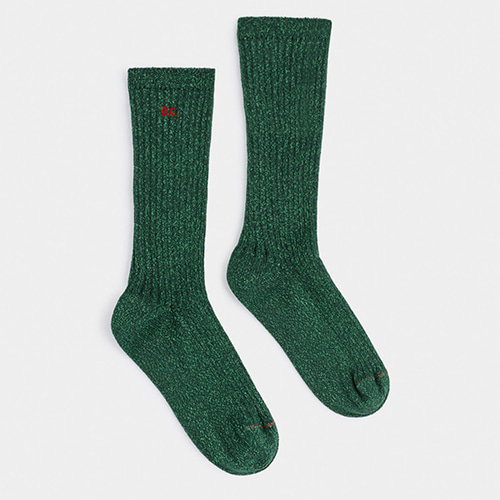 Lurex Green Socks #308