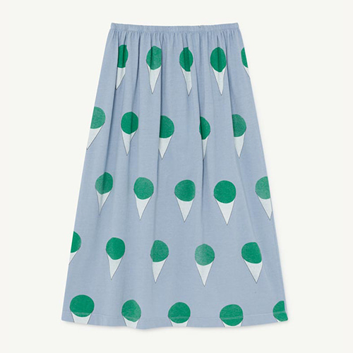 [8y]Ladybug Skirt 1132_022 (blue icecream)