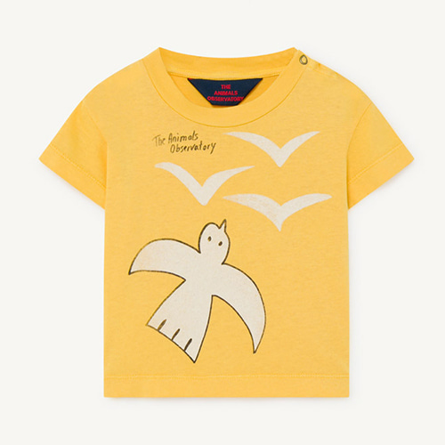 Rooster Baby Tshirt 1126_016 (yellow birds)