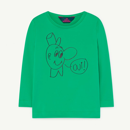 [3/4y]Deer Swim Tshirt 1271_188 (green oui)