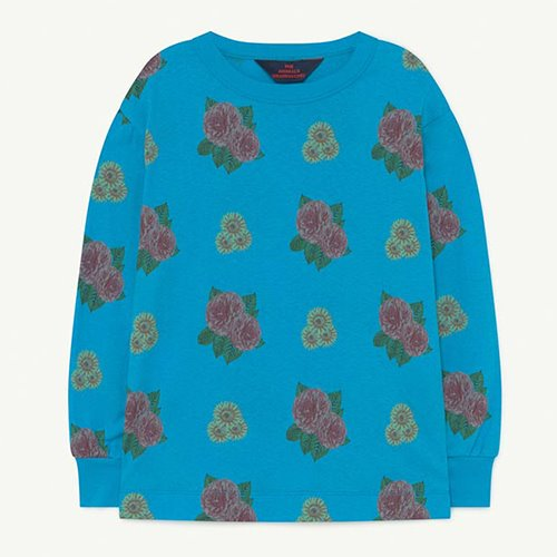 [2y]Dog Tshirt 1288_205 (blue flowers)