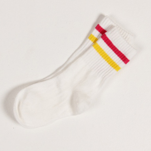50%_Stripe Socks (white/yellow)