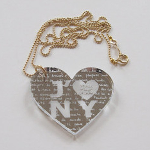 J'♥NY Necklace (mirror)