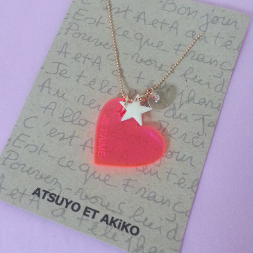 Pop Heart Necklace (pink)