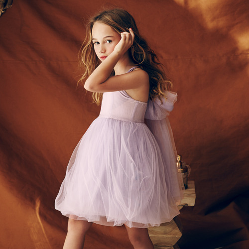 Peach Dress (lavender fog)