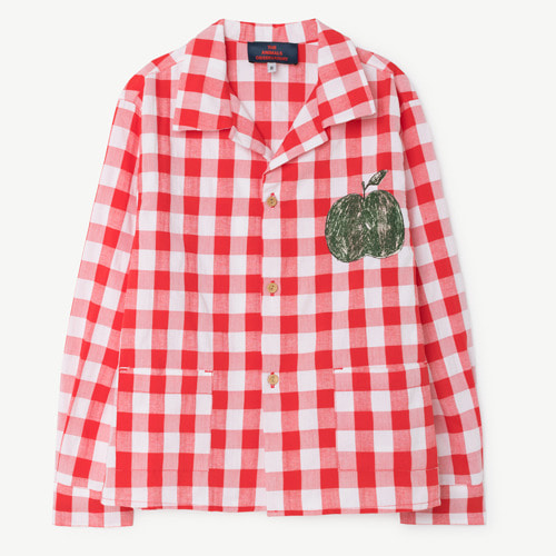 [10y]Wolf Shirt (red apple)