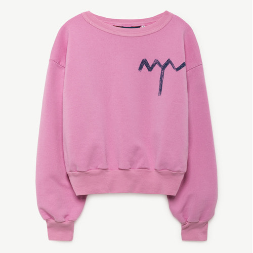 [2y]Bear Sweatshirt (fuchsia tree)