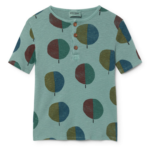 [6/7.8/9y]Buttons Tshirt Forest #24