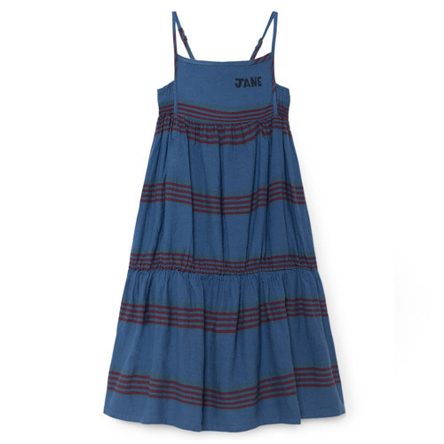 [2/3y]Princess Dress Stripe Linen #86