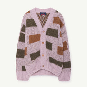 [8y]Arty Peasant Cardigan (purple)