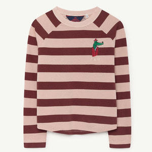 Cricket Tshirt (rose maroon stripes)