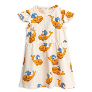 Whale aop wingdress (orange)