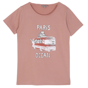 Tshirt #463 (terracotta bus)