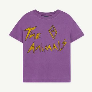 [2/3y]Rooster Tshirt 1125_195 (violet animals)
