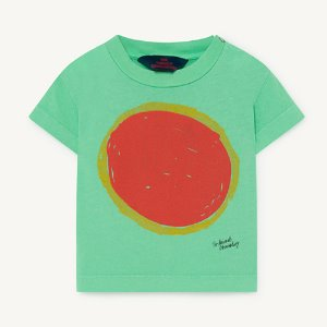 [18m]Rooster Baby Tshirt 1126_196 (green sun)