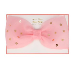Flower Sequin Bow Clip