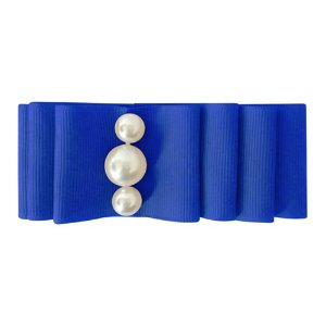 Pearl Layered Bow Cobalt