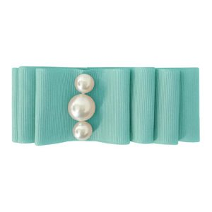 Pearl Layered Bow Nile Blue