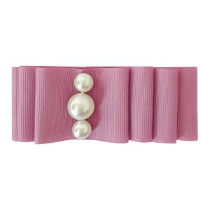 Pearl Layered Bow Rosy Mauve