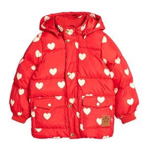 Heart Puffer Jacket (red)