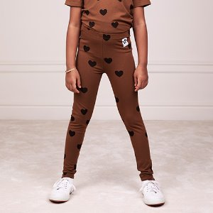 Heart Leggings Tencel (brown)