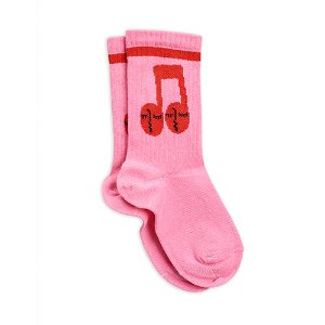 Notes Socks (pink)