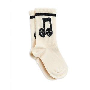 Notes Socks (white)