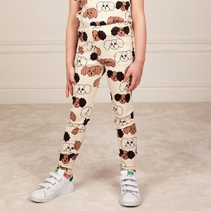Fluffy Dog Leggings (beige)