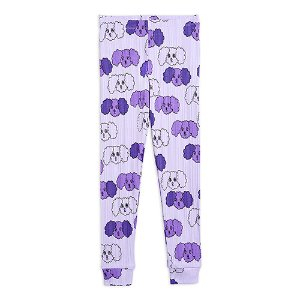 Fluffy Dog Leggings (purple)