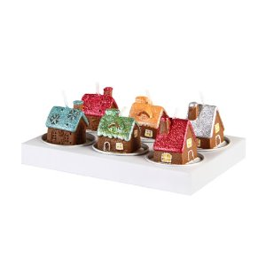 Candle Gingerbread House (pack of 6)