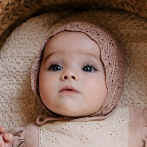 Summer Bonnet (dusty rose)
