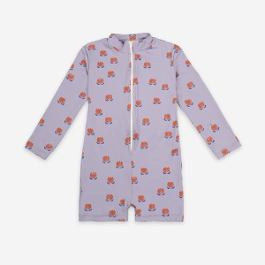 Swim Playsuit Chocolate Flower #153