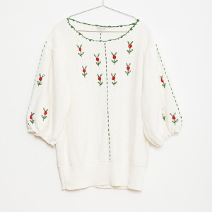 Flower Women Knitted Top