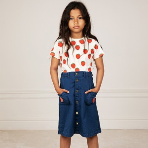 Strawberry Denim Skirt