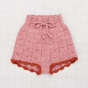 Popcorn Rib Shorts (rose blush)