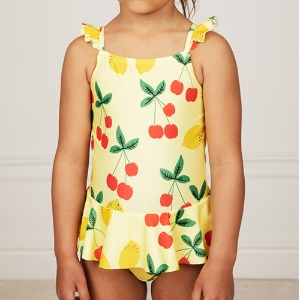Cherry Lemonade Skirt Swimsuit
