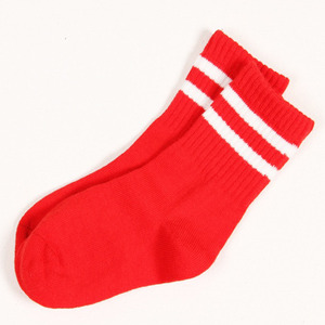 50%_Stripe Socks (red)