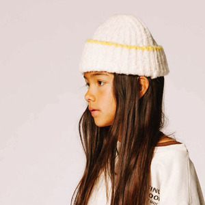 [baby]Squirrel Cap (acid yellow/white)