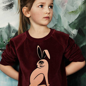 (80/86)Rabbit Sweatshirt (burgundy)