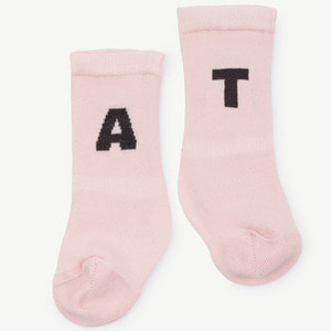 [12/18m]Worm Baby Socks (soft pink)